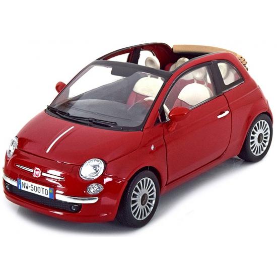 Schaalmodel Fiat 500 cabrio 1:18