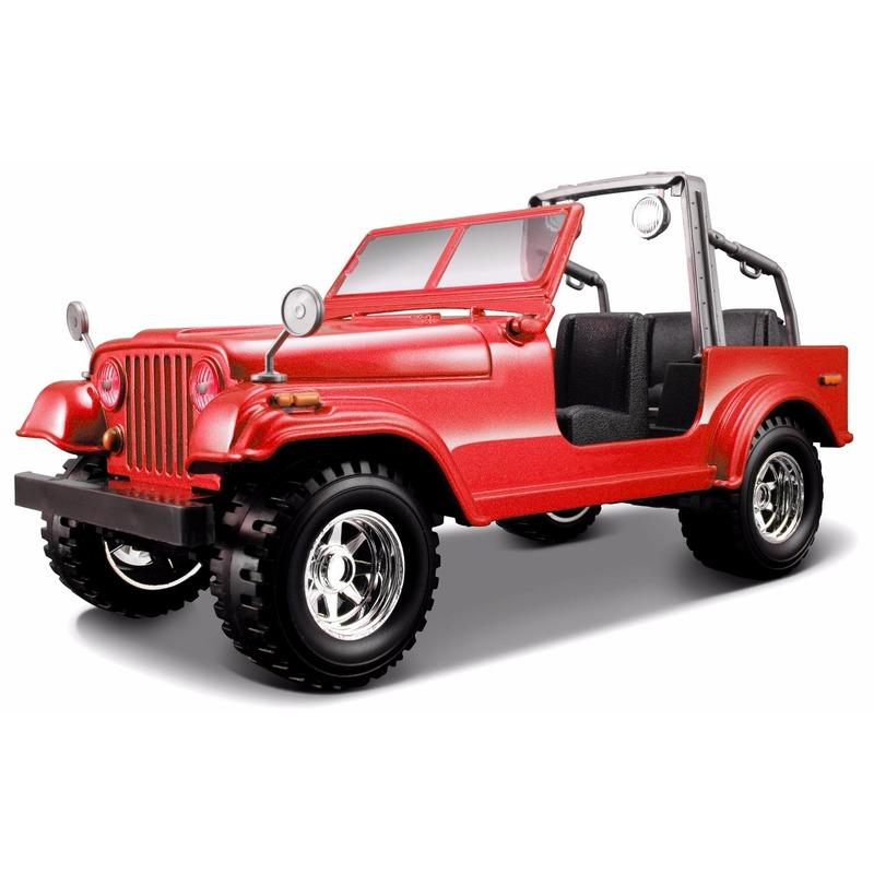 Schaalmodel Jeep Wrangler cabrio 1:24