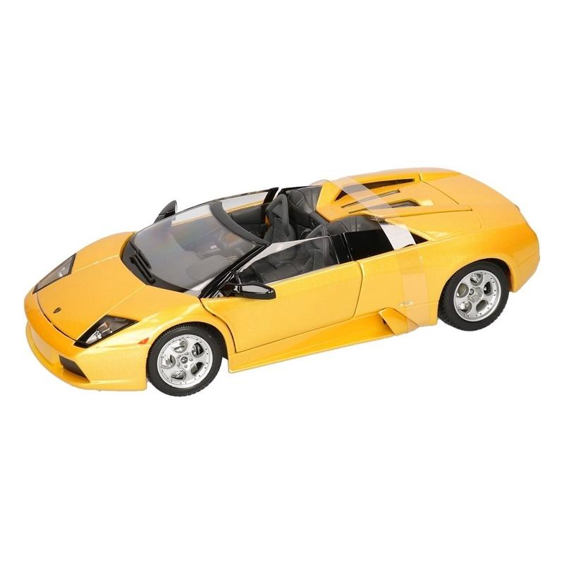 Schaalmodel Lamborghini Murcielago Roadster geel 1:18