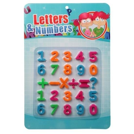 Schoolbord cijfers magnetisch 26 stuks Multi