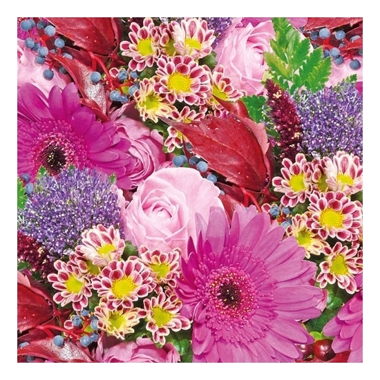 Servetten bloemen print 3-laags 20 stuks Multi