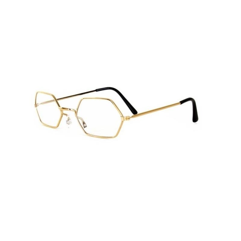 Sinterklaas leesbril goudkleurig Goudkleurig