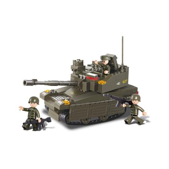 Sluban bouwpakket tank met 3 soldaatjes 33 x 23,7 cm