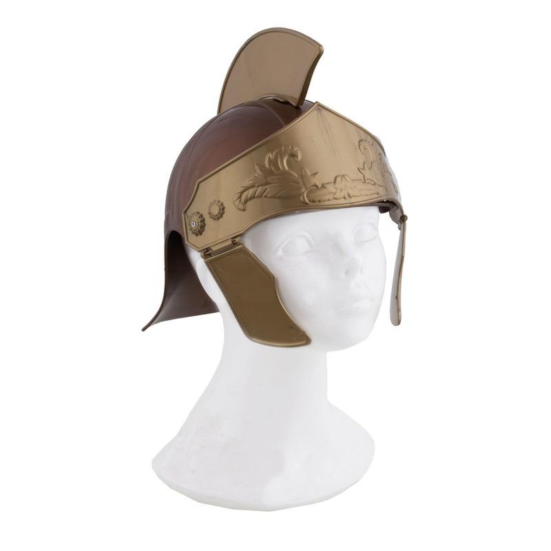 Spartaanse helm goudkleurig Goudkleurig