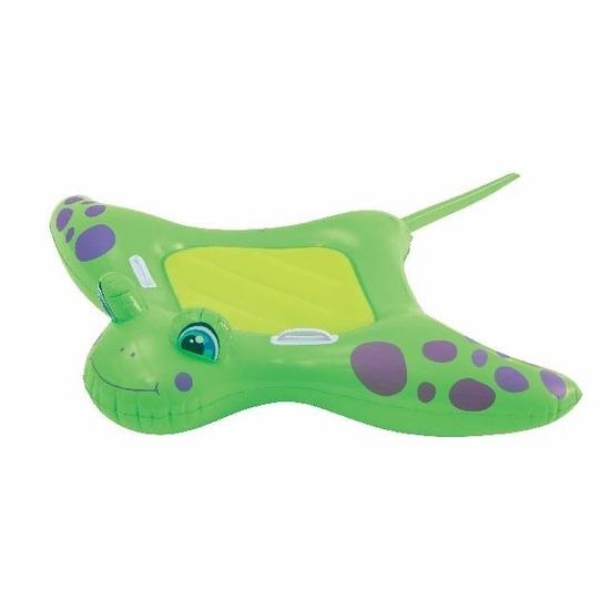 Speelgoed groene opblaas manta rog 150 x 114 cm