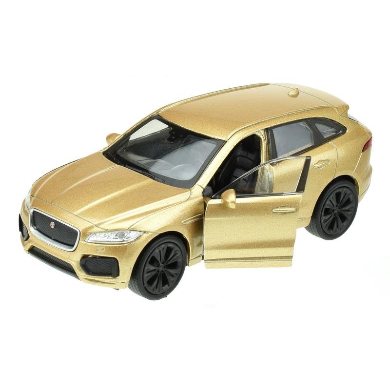 Speelgoedauto Jaguar F-pace goudkleurig 1:34 Goudkleurig