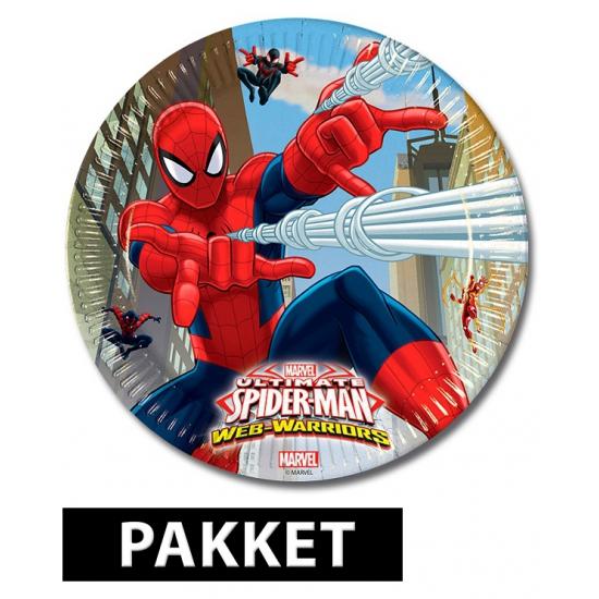 Spiderman versiering pakket voor kinderfeestje Multi