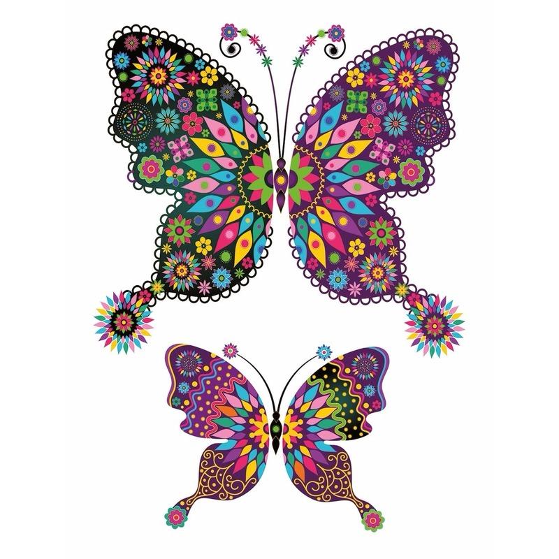 Tattoo vlinders plak stickers