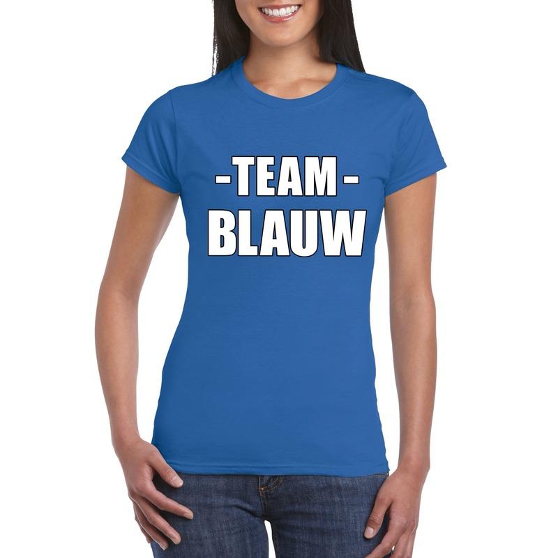 Team blauw shirt dames voor sportdag