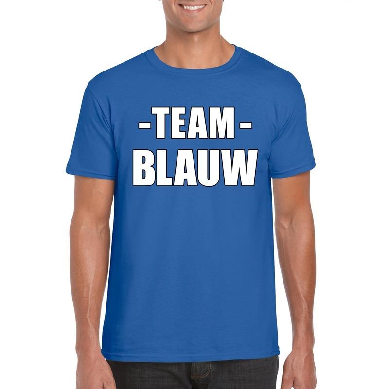 Team blauw shirt heren voor sportdag