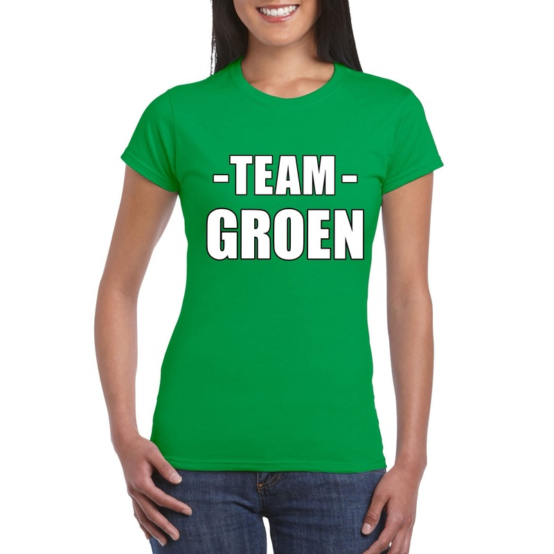 Team groen shirt dames voor sportdag