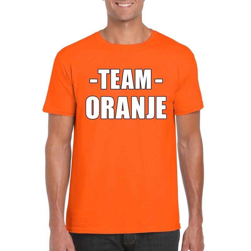 Team oranje shirt heren voor sportdag