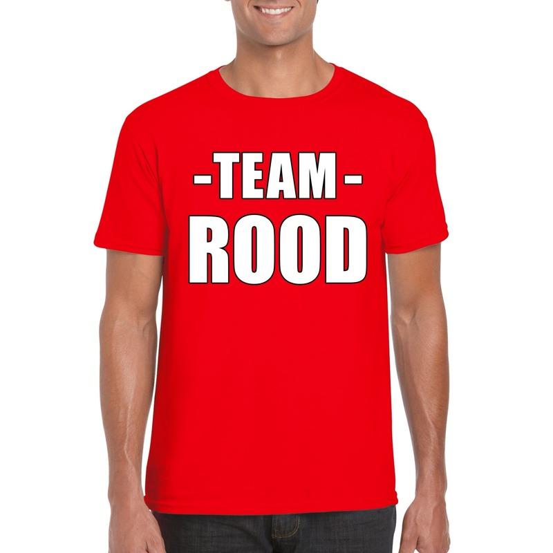Team rood shirt heren voor sportdag