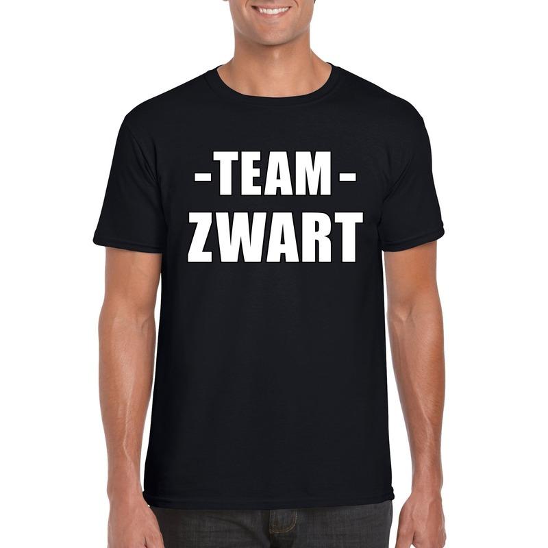 Team zwart shirt heren voor sportdag