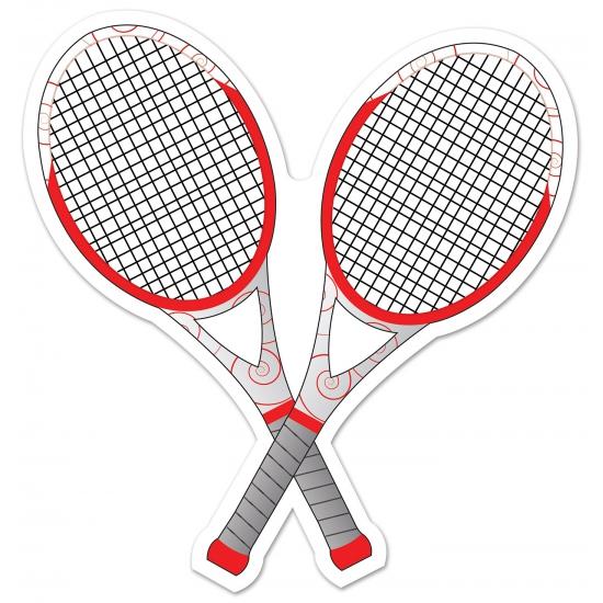 Tennis thema deco racket 25 cm