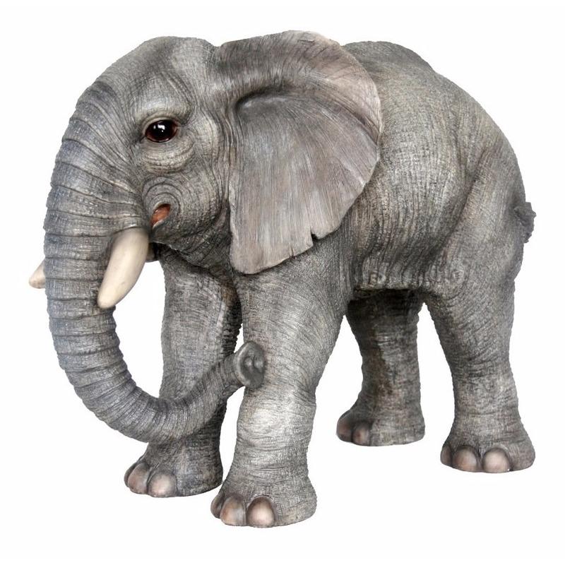 Tuinbeeld olifant luxe 56 cm Multi