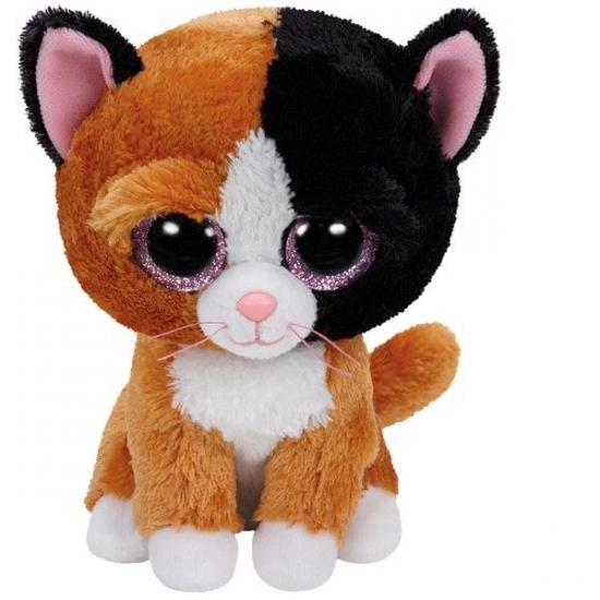 Ty Beanie knuffel gevlekte kat 15 cm