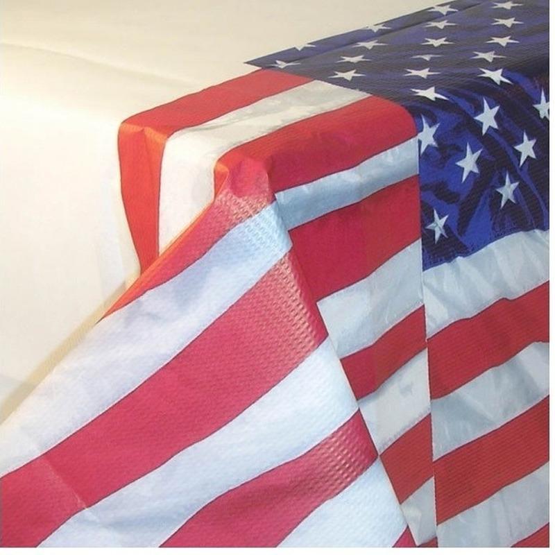 USA tafelkleed van papier 137 x 259 cm Multi