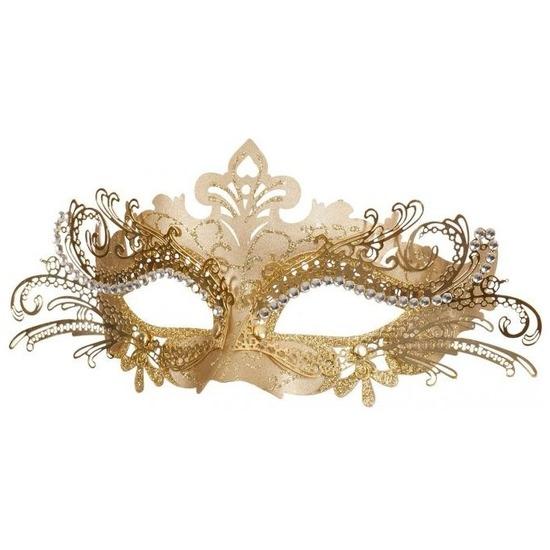 Venetiaans goudkleurig oogmasker Goudkleurig
