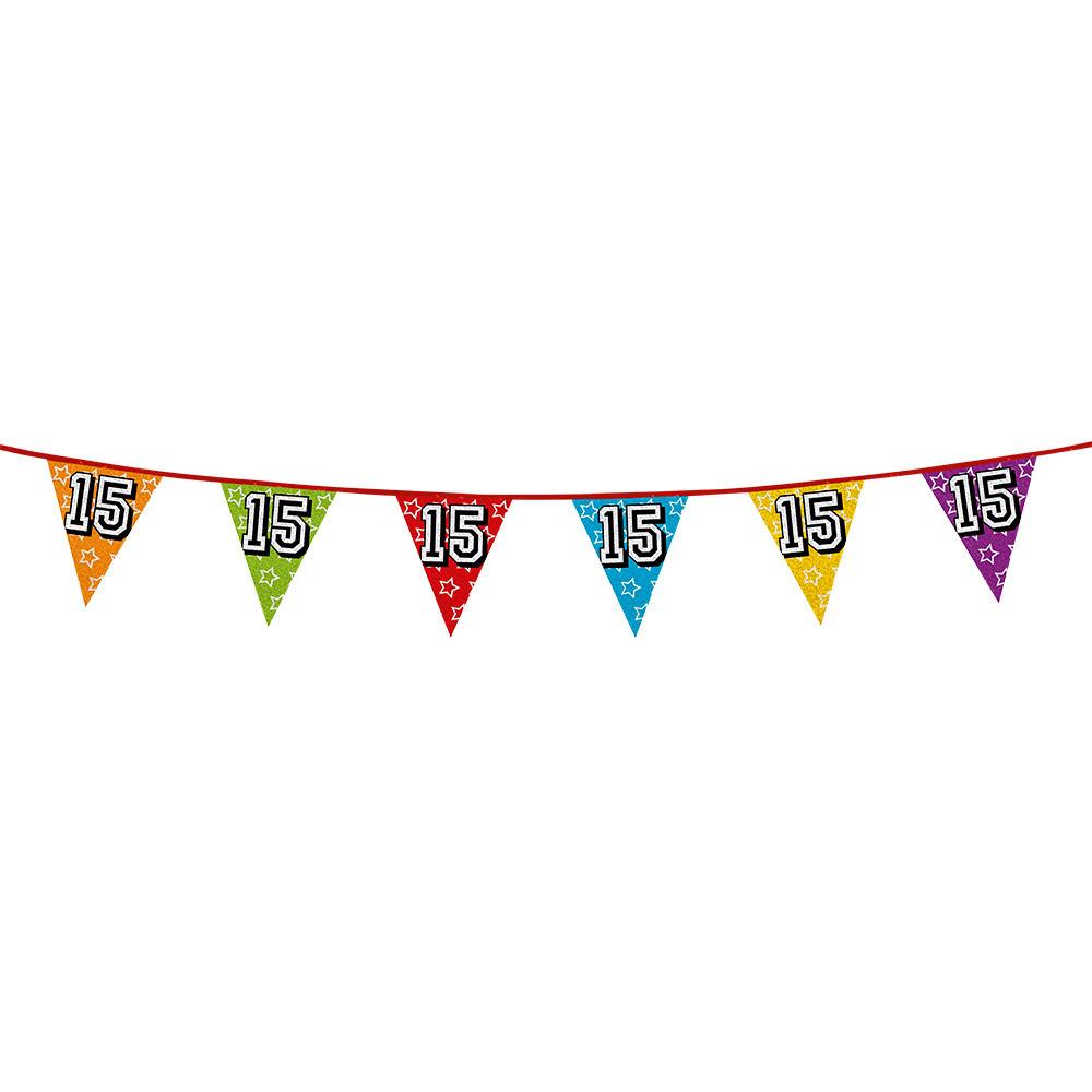 Vlaggenlijn 15 jaar feestje Multi