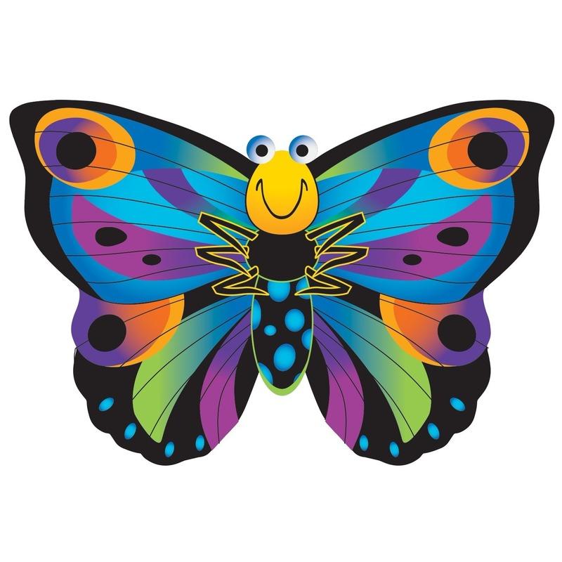Vlinder speel vlieger 76 x 112 cm Multi