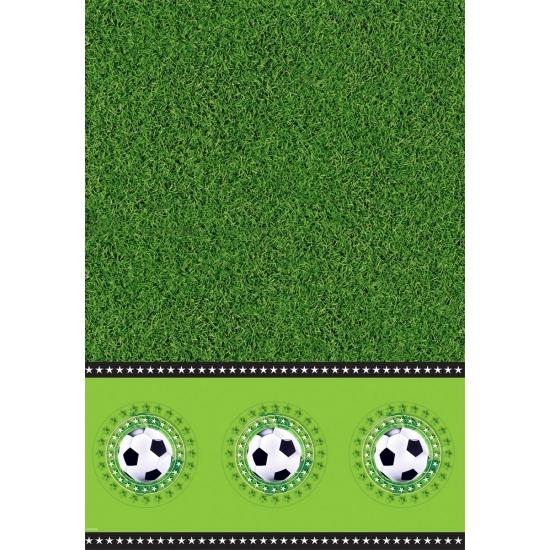Voetbalveld tafelkleed 130 x 180 cm Groen