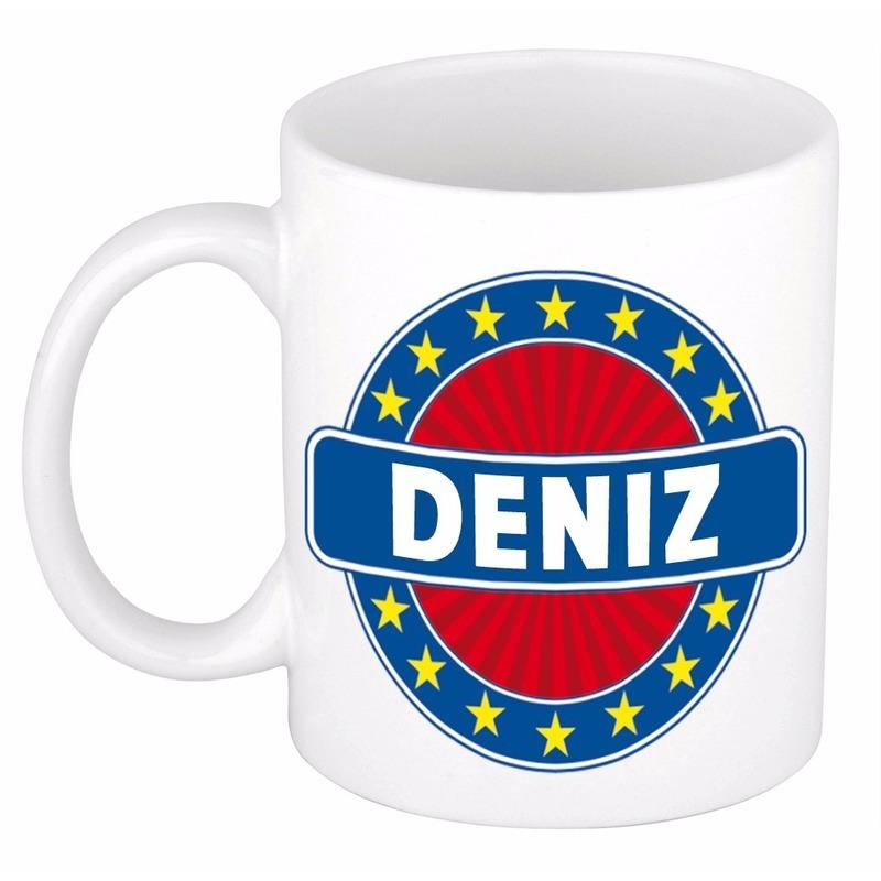 Voornaam Deniz koffie/thee mok of beker