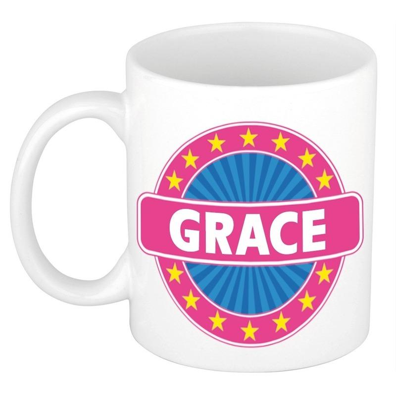 Voornaam Grace koffie/thee mok of beker