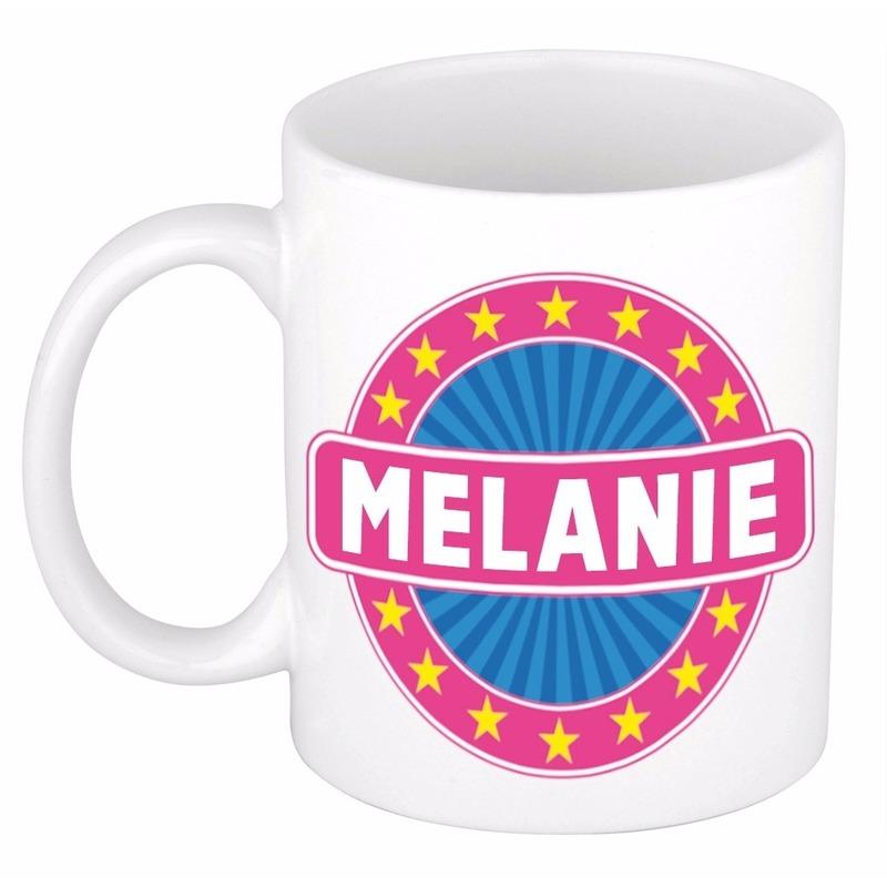 Voornaam Melanie koffie/thee mok of beker