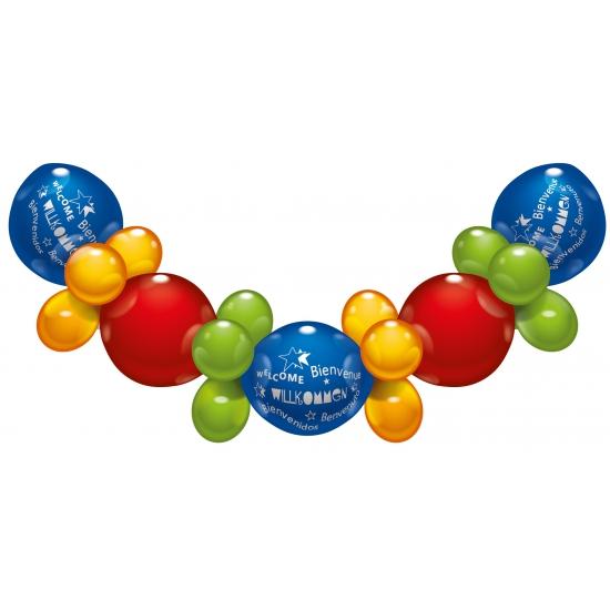 Vrolijke ballonnen slinger Welkom