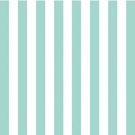 Wegwerp servetten blauw-wit gestreept 3-laags 20 stuks Blauw