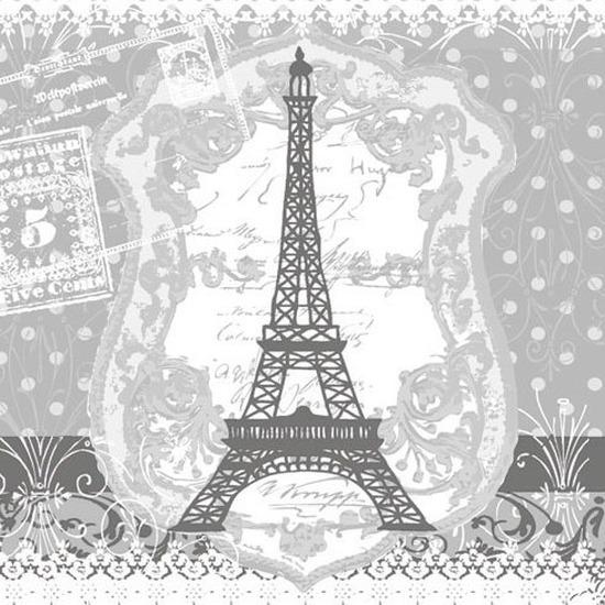 Wegwerp servetten Eiffel toren 3-laags 40 stuks Multi