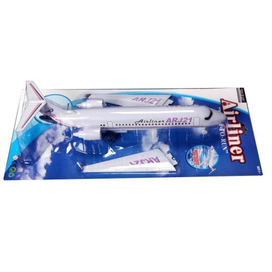 Wit speelgoed vliegtuigjes 53 cm