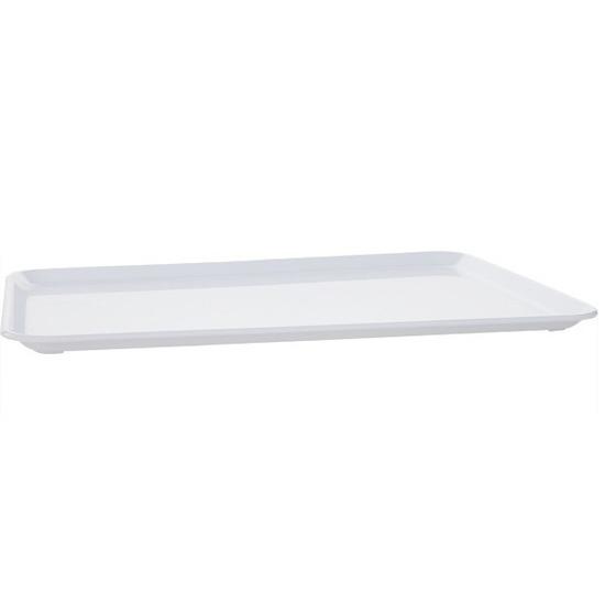 Plat dienblad wit kunststof 35 x 24 cm Wit