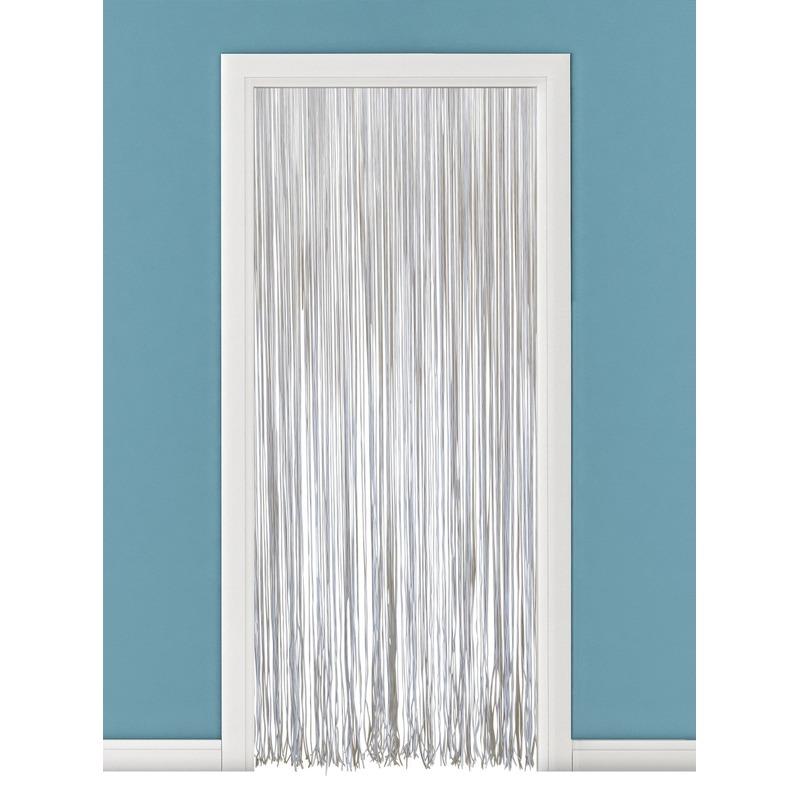 Witte kunsstof deurgordijn 230 cm