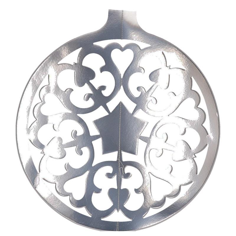 Zilveren kerstbal hangdecoratie 49 cm Zilver