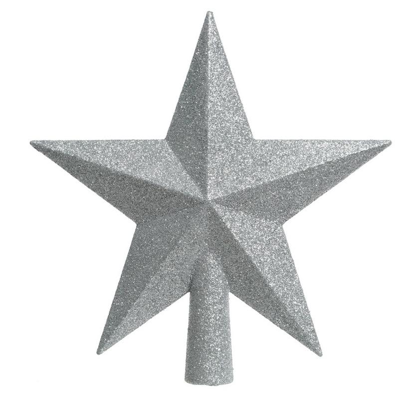 Zilveren kerstversiering piek 19 cm Zilver