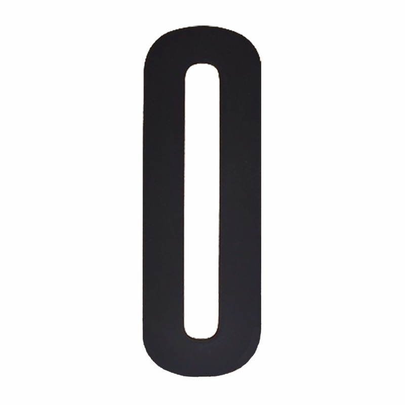 Zwarte cijfer sticker 0 10 cm