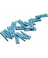 Blauwe mini knijpertjes 20x