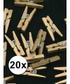 20 kleine gouden knijpertjes