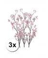 3 takken Appelbloesem roze 104 cm