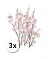 3 roze appelbloesem takken 84 cm
