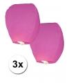 3 roze wensballonnen