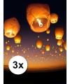 3x witte wensballon XL 50 x 100 cm