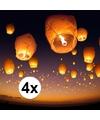 4 x Wensballon xl wit 50 x 100 cm