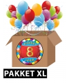 8 jaar feestartikelen pakket XL