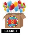 8 jaar feestartikelen pakket