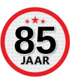 Ronde 85 jaar sticker