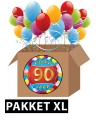 90 jaar feestartikelen pakket XL