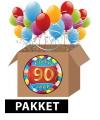 90 jaar feestartikelen pakket